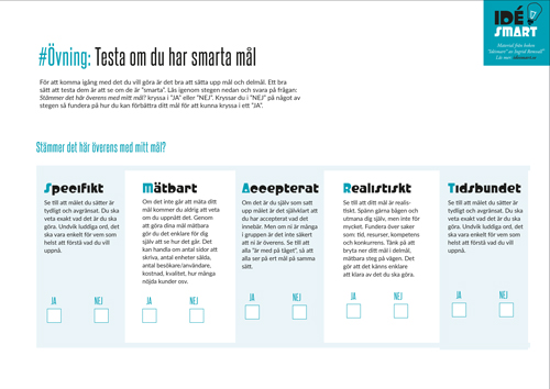 smarta_mal_idesmart_arbetsblad